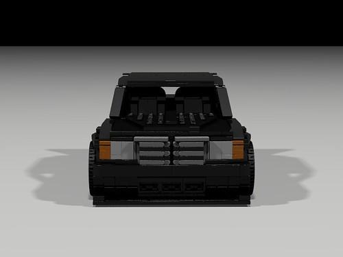 Lego 1990 Mercedes 190E Evo II - front