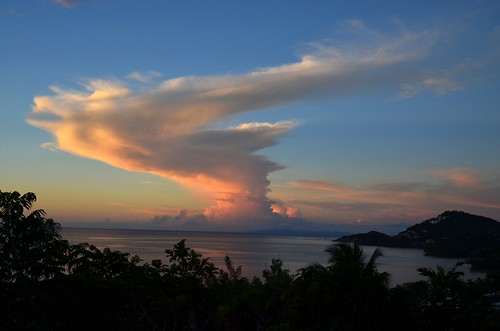 sunset sea clouds island meer sonnenuntergang sundown wolken insel caribbean commonwealth stlucia karibik