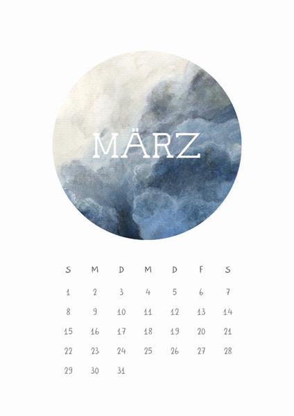 Himmel März