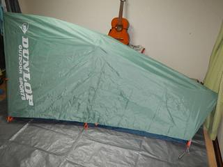 テントが張れました