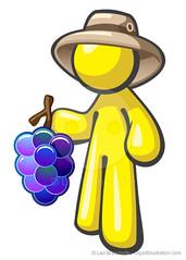 Yellow Character Man Grapes Hat