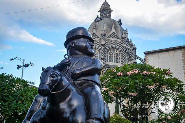 Botero Statue Park and Rafael Uribe Uribe Palace of Culture Medellin
