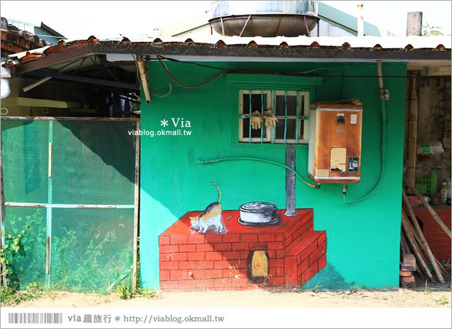 【關廟彩繪村】新光里彩繪村~在北寮老街裡散步‧遇見全台最藝術風味的彩繪村15