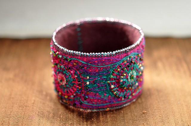 fiberart bracelet