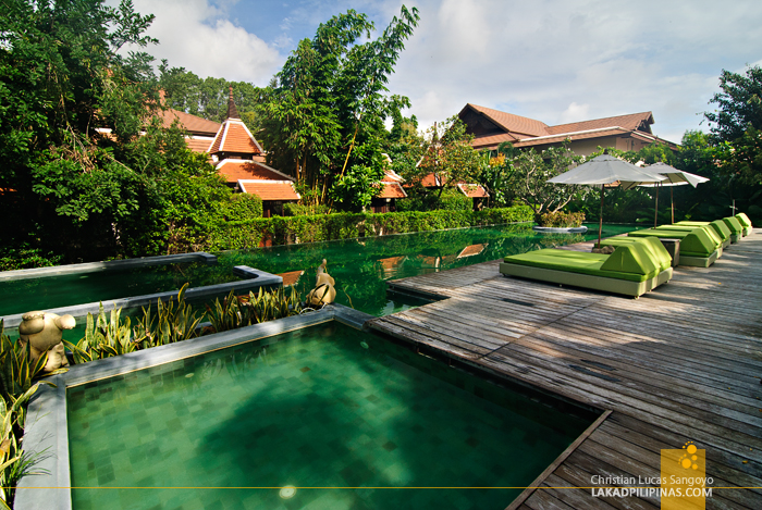 Pool Area at Siripanna Villa Resort Spa in Chiang Mai