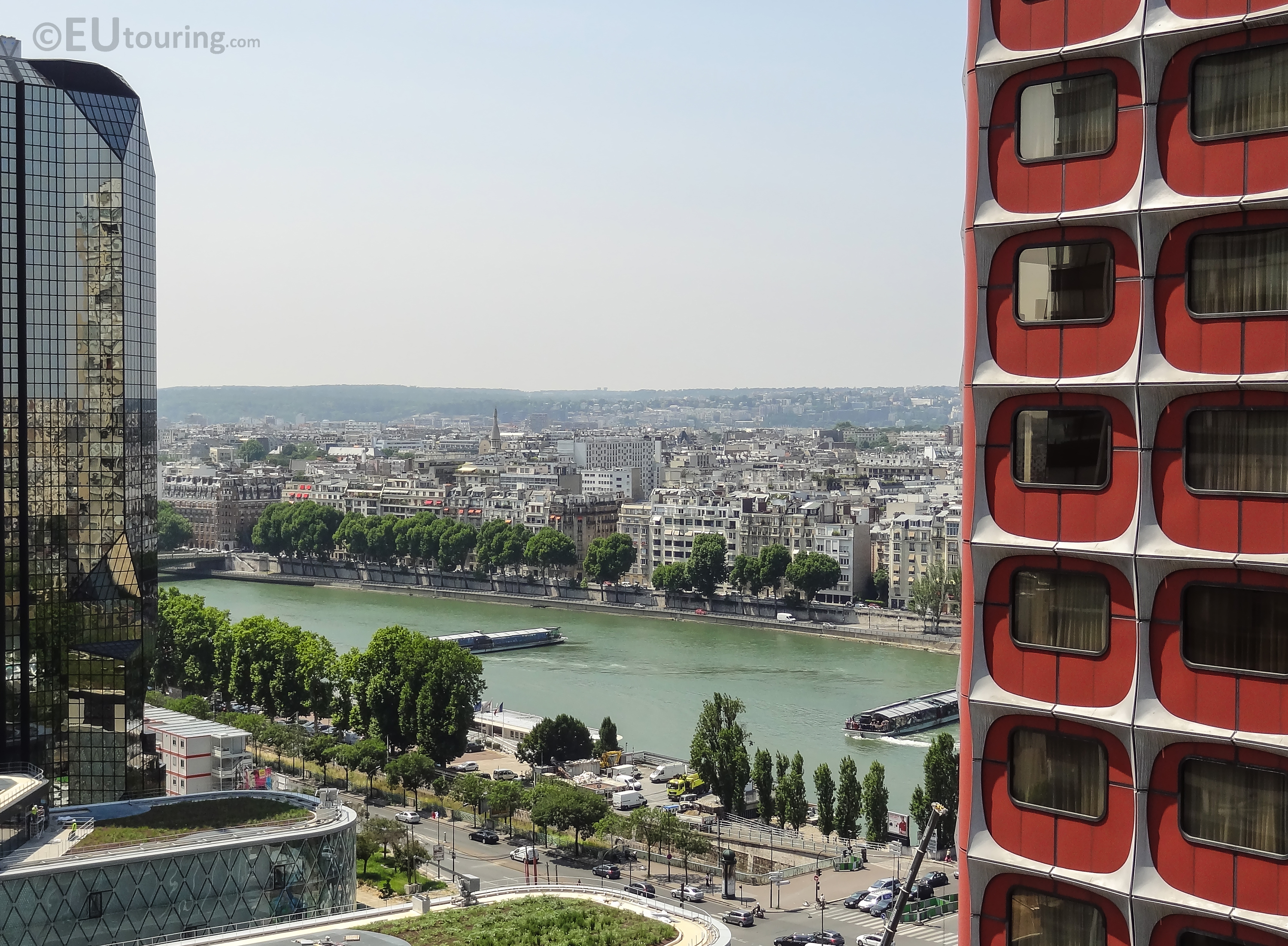 Between the building to the River Seine
