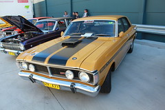 automobile, automotive exterior, vehicle, full-size car, ford xy falcon gt, antique car, sedan, classic car, land vehicle, muscle car,