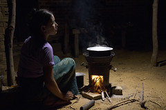 Ma Cho cooking the family meal using the five minute stove
