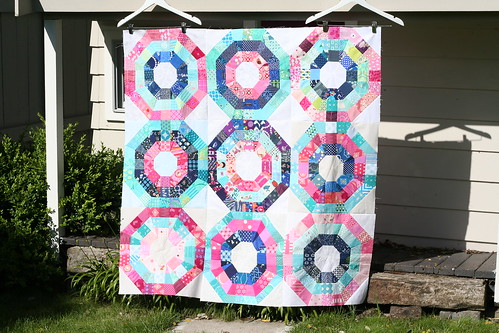 Care Circle Octagonal Orb quilt top for do. Good Stitches