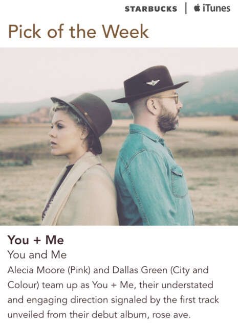 Starbucks iTunes Pick of the Week - You + Me - You and Me