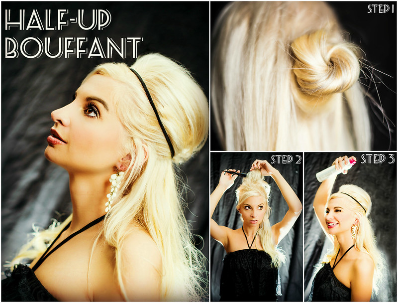 half up bouffant hair tutorial #hairoftheday in_the_know_mom