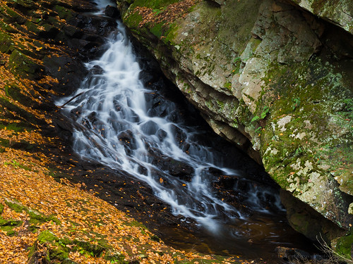 longexposure autumn fall nature leaves creek landscape waterfall moss rocks newengland newhampshire nh olympus cascade omd em5 45mmf18mzuiko
