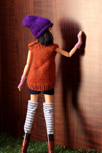 hand knitted tops for momoko and Neo Blythe doll