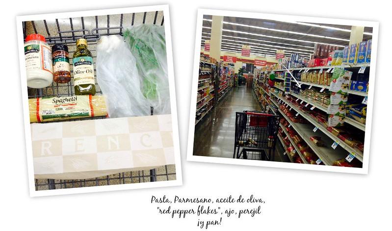 Espagueti con ajo y aceite ingredientes #ChooseSmart