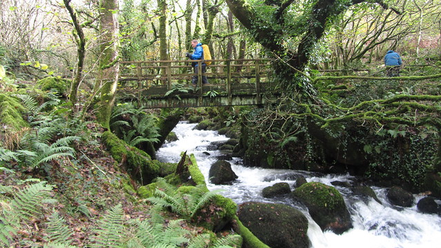 Dean crossing Colly Brook