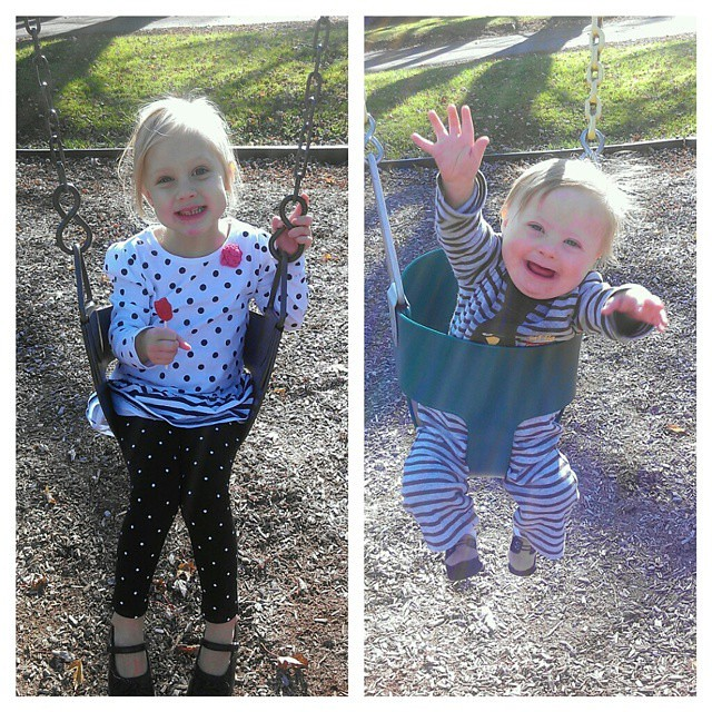 When it's 68 degrees in November, we go to the park!