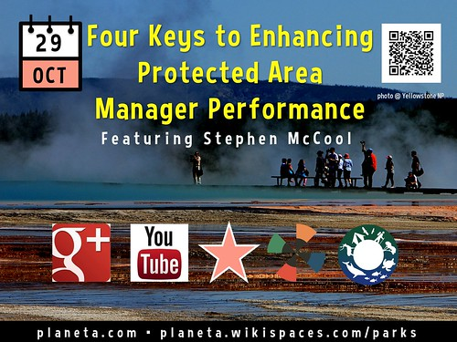 Oct 29: Four Keys to Enhancing Protected Area Manager Performance