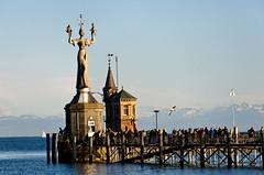 Hafeneinfahrt Konstanz mit Imperia
