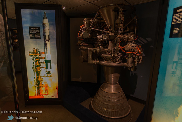 Sun, 10/26/2014 - 14:54 - A Gemini-Titan rocket engine. The rocket was a converted ICBM. - Stafford Air and Space Museum - October 26, 2014 2:54:22 PM - Weatherford, Oklahoma (35.5447,-98.6700)