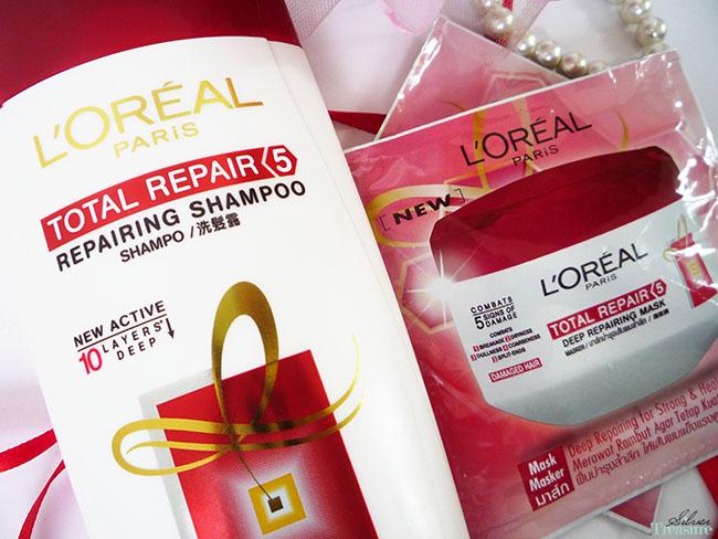 L Oreal Total Repair 5 Repairing Shampoo Hair Mask Silver Treasure