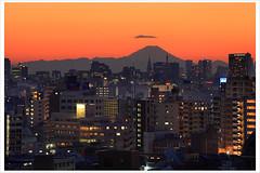 Tokyo Cityscape with Mt. Fuji 6836