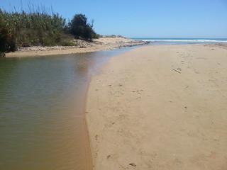 Image of Beach with a length of 440 meters. bridge sea italy beach river fire sand mare burn lorenzo sicily spiaggia sicilia fuoco falò sabbia blangiardi lydser palobianco