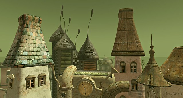 'Across the Rooftops: Little Town', by Tizzy Canucci, on Flickr
