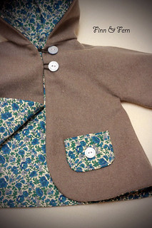Wool Coat for an 18 Inch Doll  ~ lined in Liberty ~