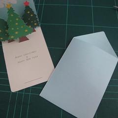 การทำการ์ดอวยพรลายต้นคริสต์มาสแบบป็อปอัป (Card Making Christmas Trees Pop-Up Card Template) 016