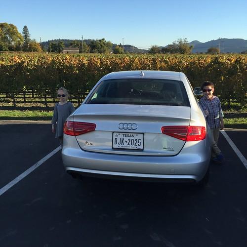 Leaving Opus One in our Silvercar rental