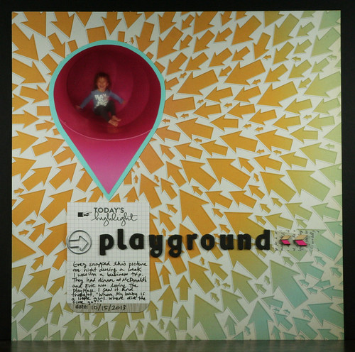 Playground Scrapbook Layout | shirley shirley bo birley Blog