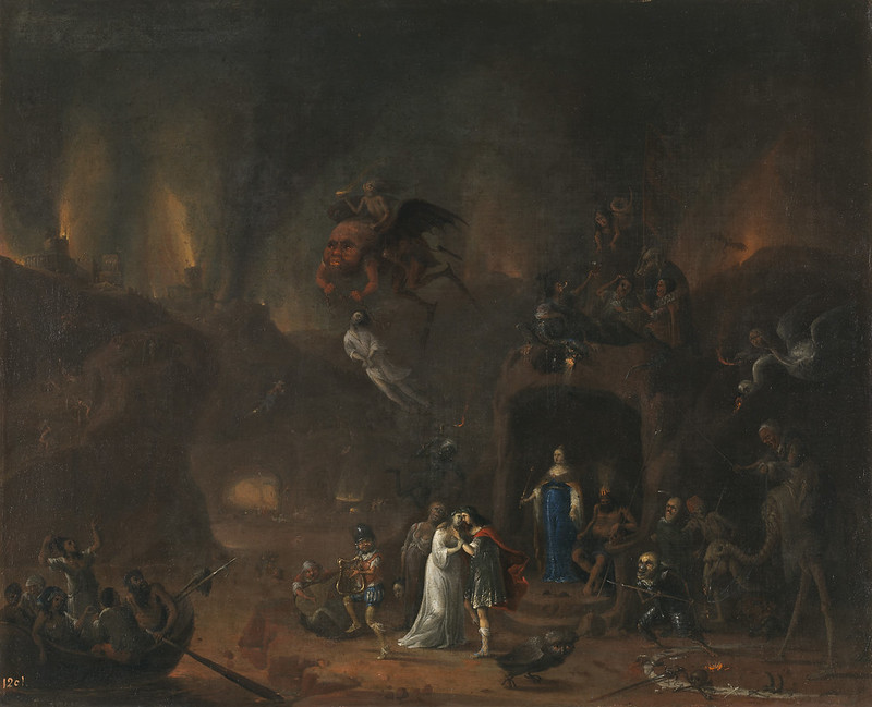 Pieter Fris - Orpheus and Eurydice in the Underworld, 1652