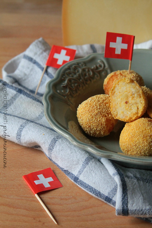 palline di patate al Gruyère e nocciole