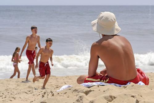 ocean summer beach fun sand hamptons surf lifeguard longisland shore atlanticocean easthampton beachwear summerhat