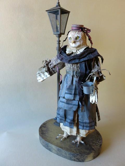 Poet - Owl Paper Sculpture