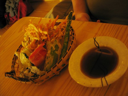 Part of the Tempura Course at Itadaki Zen vegan Japanese restaurant, King's Cross, London