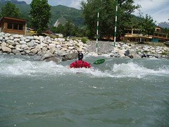 Dylan surfing on the Slalom course Image