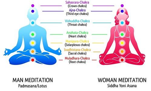 Yoga chakras diagram