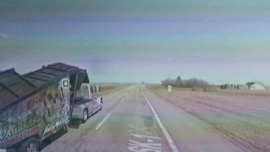 Skull on the highway. #ridingthroughwalls #xcanadabikeride #googlestreetview #Saskatchewan