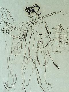 MILLET Jean-François,1850 - Départ pour le Travail, Etude - The Walk to Work  (drawing, dessin, disegno-Louvre RF11191) - Detail 08