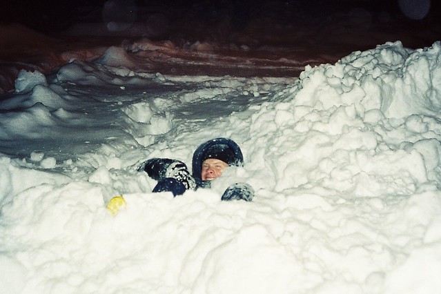 Fun in the snow. Photo Gareth Evans