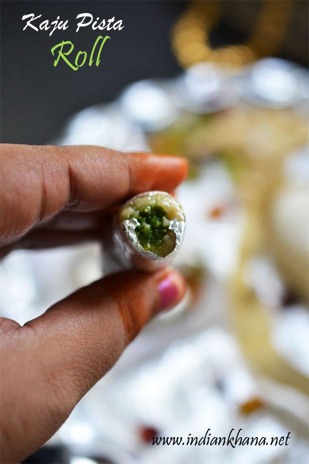 Kaju-Pista-Roll-Recipe