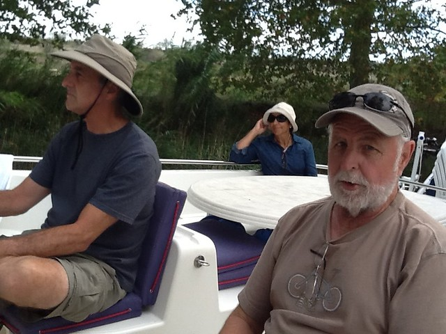 Dave driving, Lark, Larry