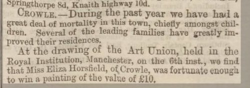 Crowle Lincolnshire Chronicle Friday 16 January 186