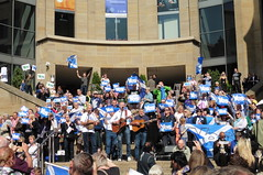 Yes campaigning in Buchanan Street in Glasgow, September 2014