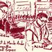 à l'IMA avec Paris Sketchers #2 by carta secca più acqua