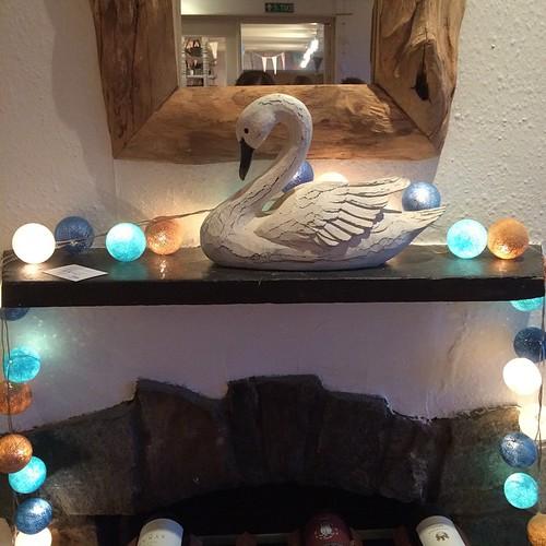 Swan fireplace