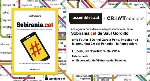 Targetó Presentació Sobirania.cat a Vilafranca del Penedès 30-10-14