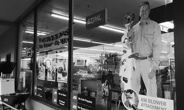 Ace Hardware retailer front window