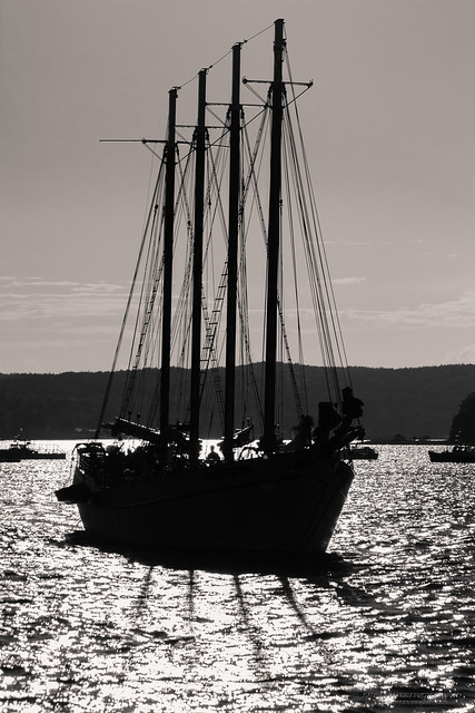 Sailboat in evening